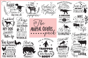 Animal Quotes Pack Graphic Crafts By Nerd Mama Cut Files 1