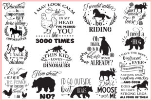 Animal Quotes Pack Graphic Crafts By Nerd Mama Cut Files 2