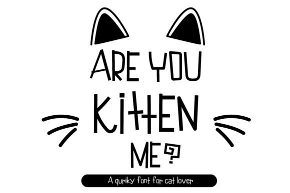 Print on Demand: Are You Kitten Me Display Font By vividdiy8