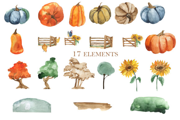 Print on Demand: Autumn at the Farm Graphic Illustrations By laffresco04 - Image 4