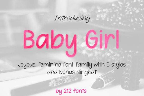 Print on Demand: Baby Girl Script & Handwritten Font By 212 Fonts