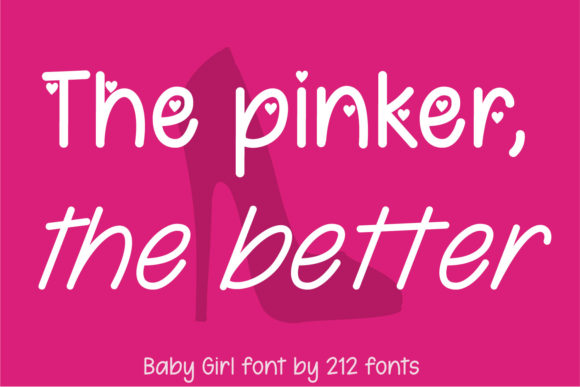 Print on Demand: Baby Girl Script & Handwritten Font By 212 Fonts - Image 2