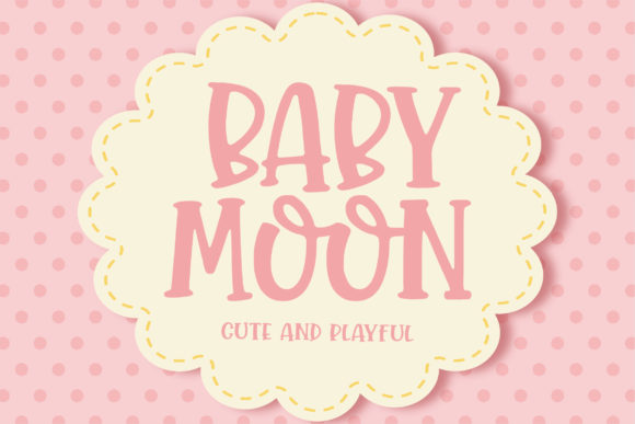 Print on Demand: Baby Moon Display Font By Orenari - Image 1