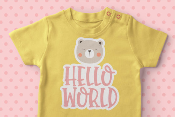 Baby Moon Font Item