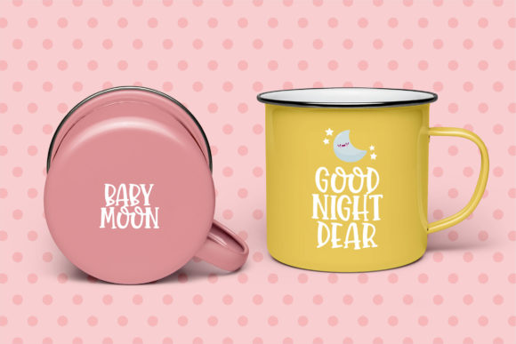 Print on Demand: Baby Moon Display Font By Orenari - Image 5
