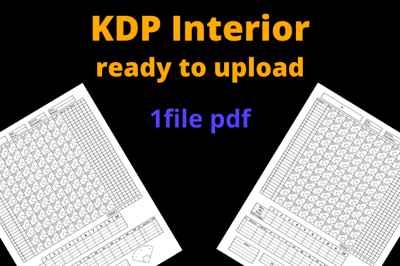 Print on Demand: Baseball Scorebook for KDP Graphic KDP Interiors By Dunkyshot