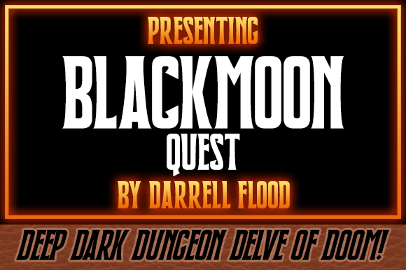 Print on Demand: Blackmoon Quest Display Font By Dadiomouse