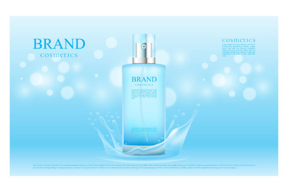 Blue Splash Water and Bokeh Background Graphic Illustrations By nhongrand
