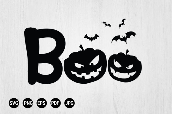 Print on Demand: Boo Halloween  Graphic Print Templates By 99 Siam Vector