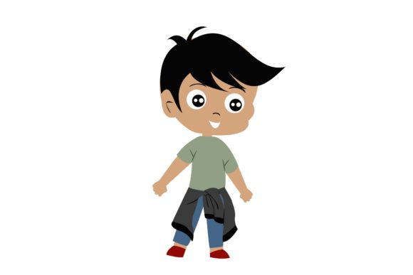 Boy Chibi Character Vector  33 Graphic Illustrations By harunikaart
