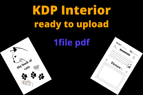 Print on Demand: Cats Notebooks for KDP Graphic KDP Interiors By Dunkyshot