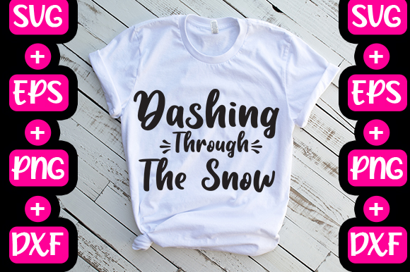 Christmas Dashing Through The Snow Graphic By Svg In Design Creative Fabrica