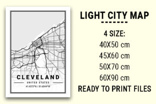 Print on Demand: Cleveland Light City Map Graphic Photos By tienstencil