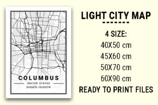 Print on Demand: Columbus Light City Map Graphic Photos By tienstencil