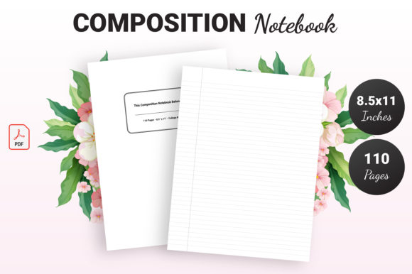 Print on Demand: Composition Notebook - KDP Interior Graphic KDP Interiors By KDP Ninja