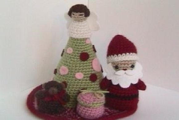 Crochet Christmas Pattern Collection Graphic Crochet Patterns By Amy Gaines Amigurumi Patterns - Image 1