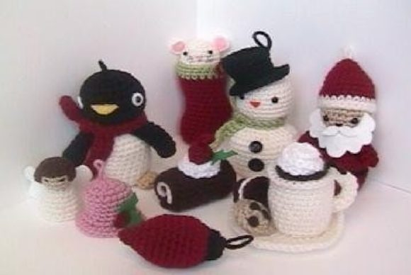 Crochet Christmas Pattern Collection Graphic Crochet Patterns By Amy Gaines Amigurumi Patterns - Image 2