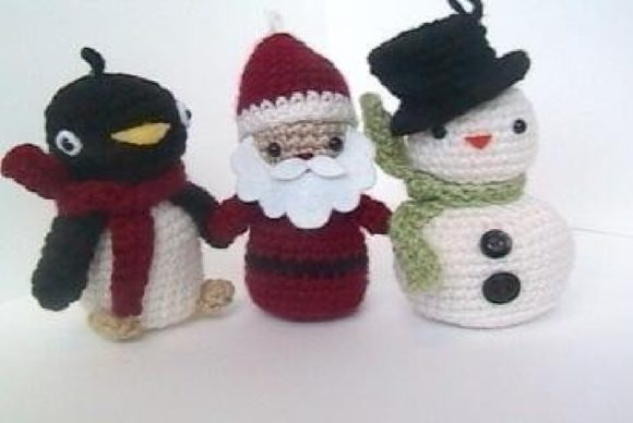 Crochet Christmas Pattern Collection Graphic Crochet Patterns By Amy Gaines Amigurumi Patterns - Image 3