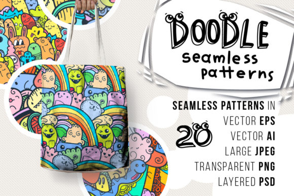 Print on Demand: Doodle Patterns and Colorings Graphic Patterns By Drekhann