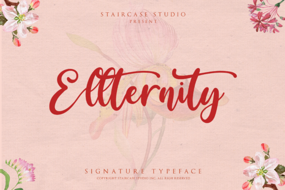 Print on Demand: Ellternity Script & Handwritten Font By staircasestudio20