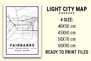 Print on Demand: Fairbanks Light City Map Graphic Photos By tienstencil