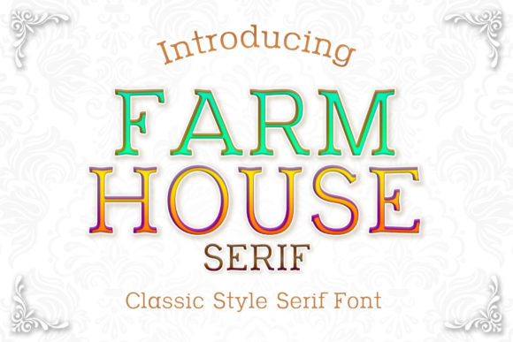 Print on Demand: Farm House Serif Font By numnim