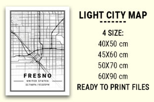 Print on Demand: Fresno Light City Map Graphic Photos By tienstencil