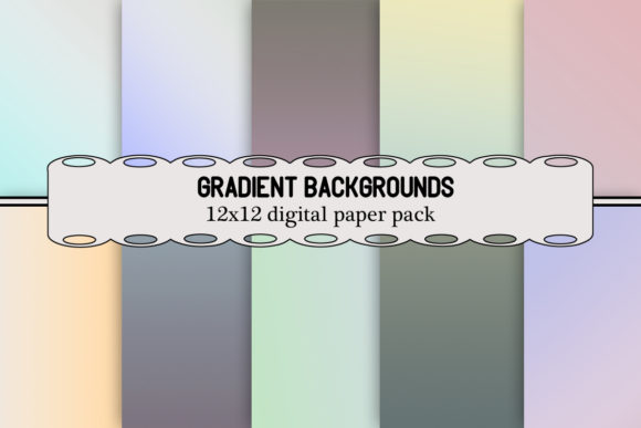 Print on Demand: Gradient Backgrounds Graphic Backgrounds By A Design in Time