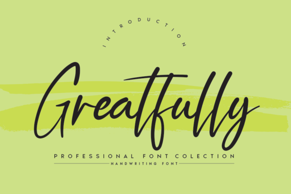 Print on Demand: Greatfully Script & Handwritten Font By Creativewhitee