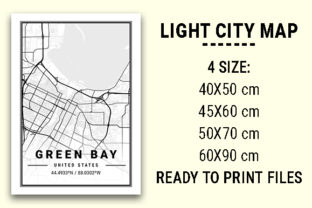 Print on Demand: Green Bay Light City Map Graphic Photos By tienstencil