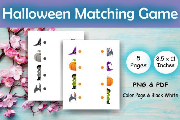Halloween Matching Game - Kdp Interior Graphic KDP Interiors By Sei Ripan