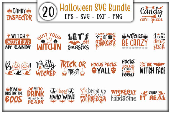 Print on Demand: Halloween Design Bundle Graphic Print Templates By GraphicsBooth