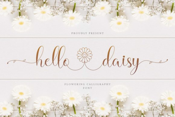 Print on Demand: Hello Daisy Script & Handwritten Fuente Por Naharstd
