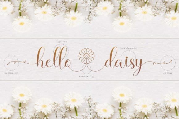Print on Demand: Hello Daisy Script & Handwritten Font By Naharstd - Image 7