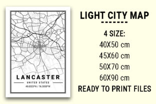 Print on Demand: Lancaster Light City Map Graphic Photos By tienstencil