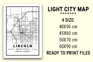 Print on Demand: Lincoln Light City Map Graphic Photos By tienstencil