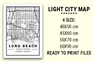 Print on Demand: Long Beach Light City Map Graphic Photos By tienstencil