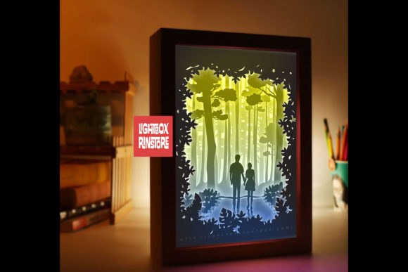 Love You Forever 3D Paper Cut Lightbox Download