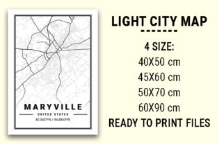 Print on Demand: Maryville Light City Map Graphic Photos By tienstencil