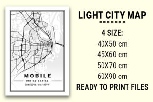 Print on Demand: Mobile Light City Map Graphic Photos By tienstencil
