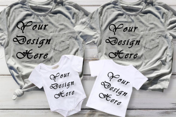 Mockup Family Matching White T-shirts Graphic Product Mockups By Mockup Shop