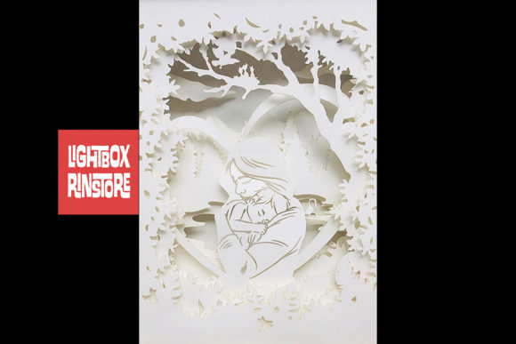 Mother's Day 3D Paper Cut Lightbox Graphic 3D Shadow Box By lightbox.rinstore - Image 2