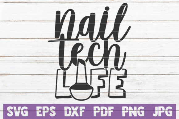 Nail Tech Life Graphic Crafts By MintyMarshmallows