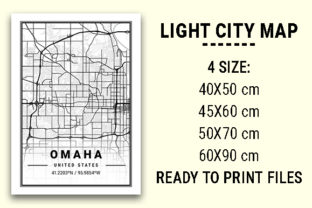 Print on Demand: Omaha Light City Map Graphic Photos By tienstencil