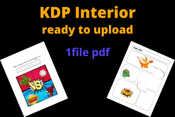 Print on Demand: Pre-filled Comic Book with Dragons Graphic KDP Interiors By Dunkyshot