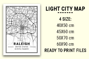 Print on Demand: Raleigh Light City Map Graphic Photos By tienstencil