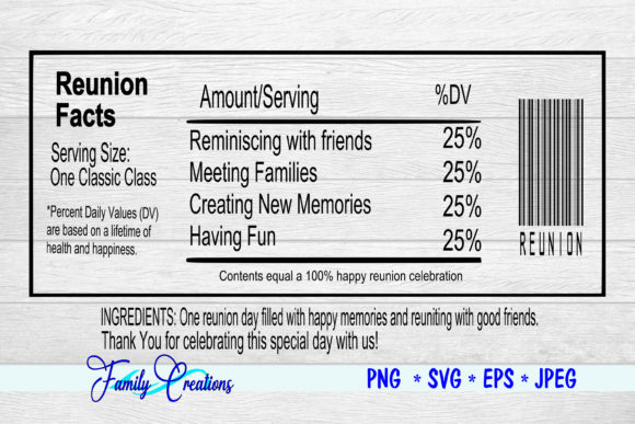 Reunion Facts Graphic Crafts By Family Creations