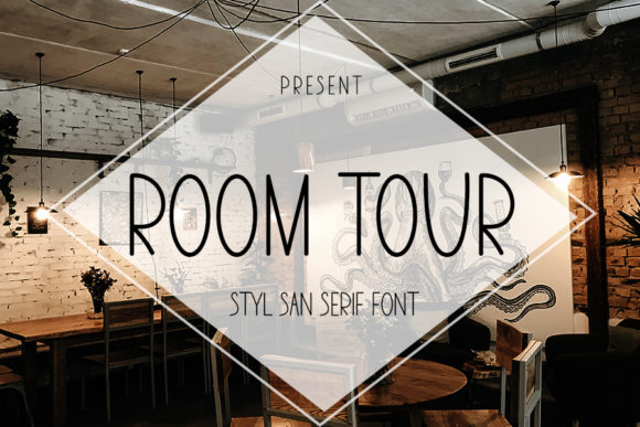 Print on Demand: Room Tour Sans Serif Font By ONE DESIGN