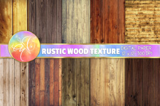 Rustic Wood Digital Paper, Backgrounds Graphic Backgrounds By paperart.bymc