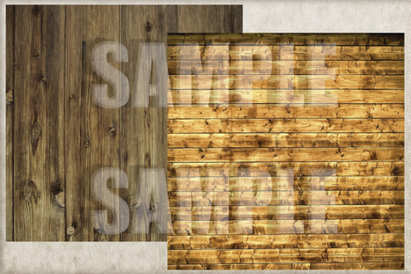 Rustic Wood Digital Paper, Backgrounds Graphic Download